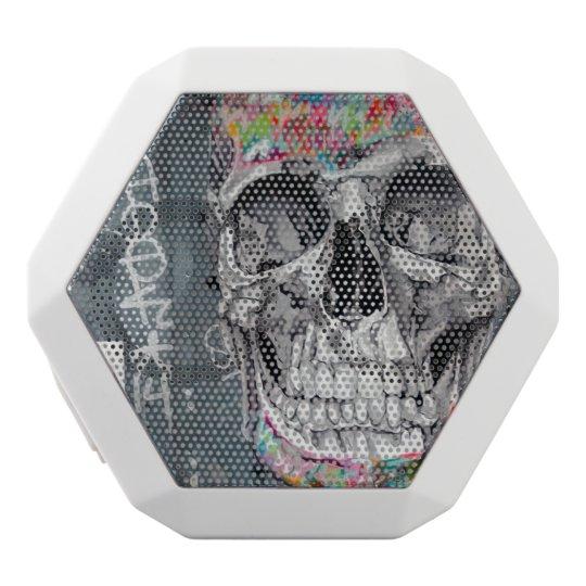 Grey Graffiti Skull Speaker