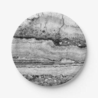 grey granite 7 inch paper plate