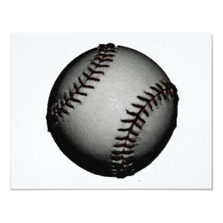 Grey / Gray Baseball 11 Cm X 14 Cm Invitation Card