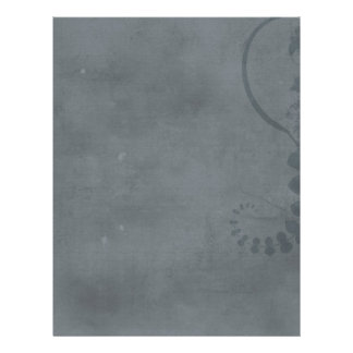 GREY GRAY DISTRESSED TEXTURED BACKGROUND FLORAL VI 21.5 CM X 28 CM FLYER
