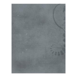 GREY GRAY DISTRESSED TEXTURED BACKGROUND FLORAL VI 21.5 CM X 28 CM FLYER