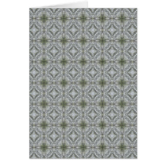 Grey-green kaleidoscopes 1 greeting card