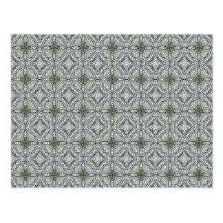 Grey-green kaleidoscopes 1 postcard