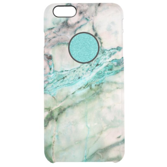 Grey & Green Marble Texture Clear iPhone 6