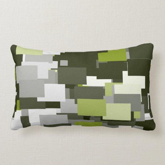 Grey Green Urban Camouflage Lumbar Cushion