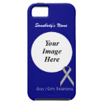 Grey / Grey Standard Ribbon Template Case For The iPhone 5