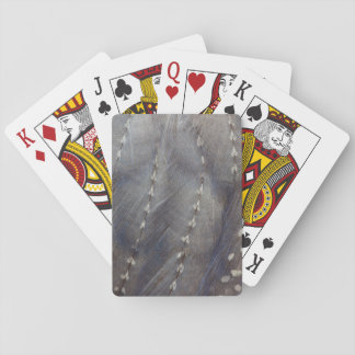 Grey Guineafowl Feather Abstract Playing Cards