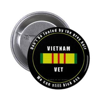 Grey Haired Vietnam Vet Button