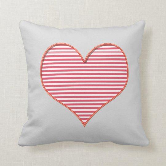 Grey heart logo cushion