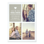 Grey heart Save the date Photo Announcements
