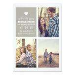 Grey heart Save the date Photo Announcements 13 Cm X 18 Cm Invitation Card