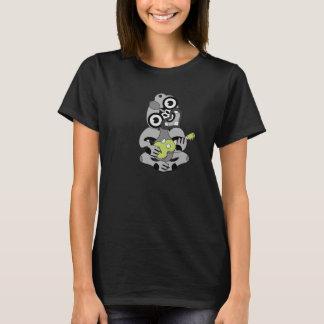 Grey Hei Tiki green Ukulele shirt