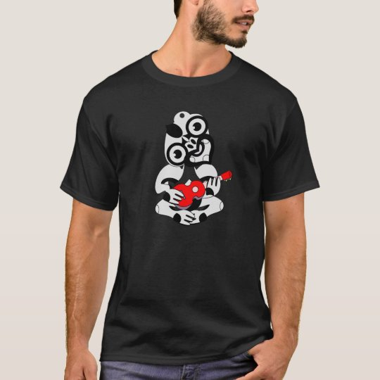 Grey Hei Tiki red Ukulele shirt