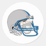 Grey Helmet Round Stickers