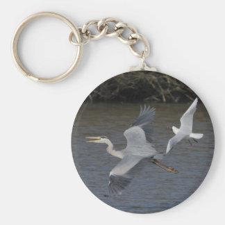 Grey Heron Air Battle Keychains