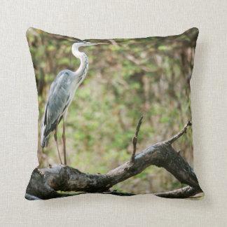 Grey Heron (Ardea Cinerea), South Africa Throw Pillow
