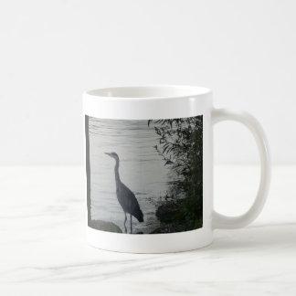 Grey Heron on Thames Coffee Mug