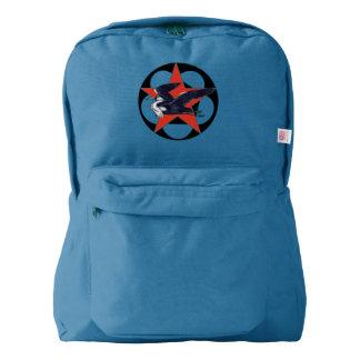 Grey Heron Red Star Backpack