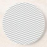 Grey Herringbone Beverage Coasters