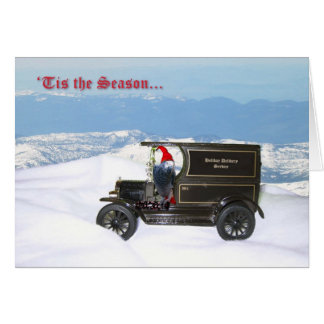 Grey Holiday Delivery Card