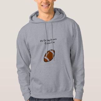 Grey Hoodie Football Logo