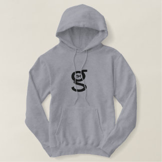 Grey Hoodie w Large Black Logo