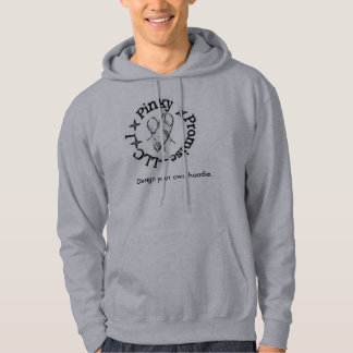 Grey hoodie with logo on front