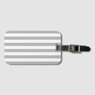 Grey Horizontal Stripes Luggage Tag