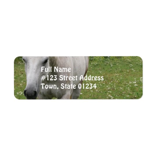 Grey Horse  Mailing Labels