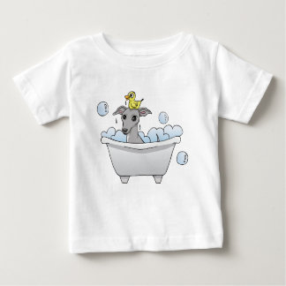Grey Hound Dog Bath Time Baby T-Shirt