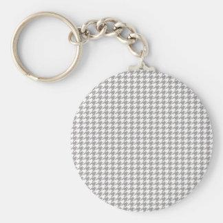 Grey Houndstooth Key Ring