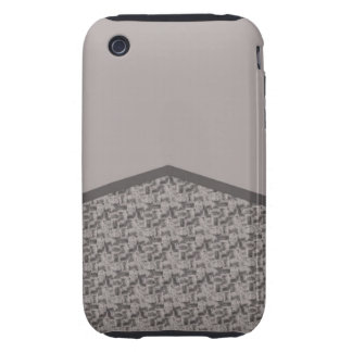 Grey houndstooth texture tough iPhone 3 covers