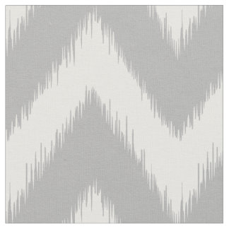 Grey Ikat Chevron Fabric