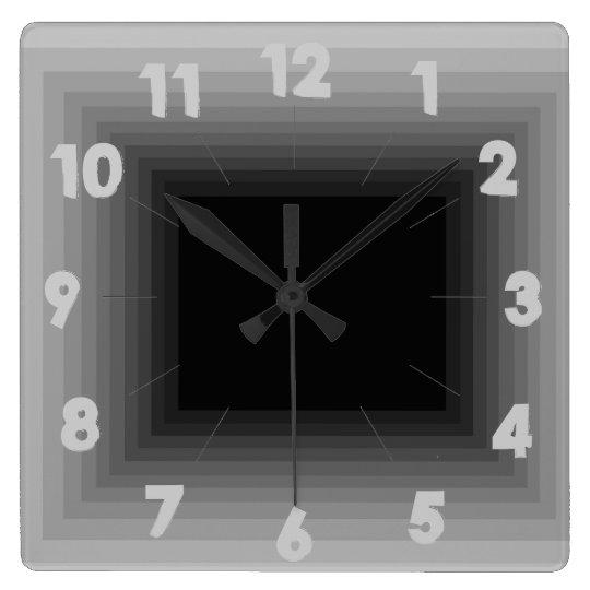 Grey Infinity Design Clock 4