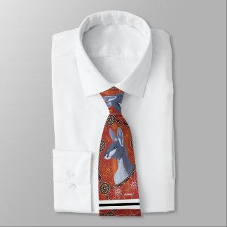Grey Kangaroo Aboriginal Tie