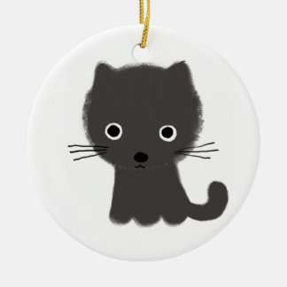 Grey Kitten Christmas Ornament