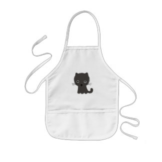 Grey Kitten Kids Apron