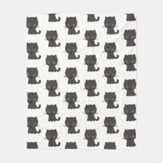 Grey Kitten Pattern Fleece Blanket