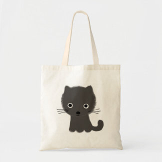 Grey Kitten Tote Bag