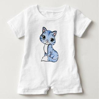 Grey Knit Kitty Cat Baby Bodysuit