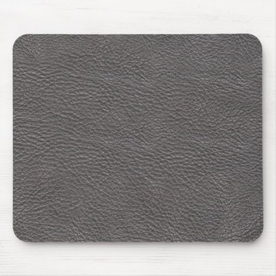 Grey leather texture mousepad