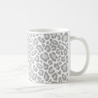 Grey Leopard Print Coffee Mug