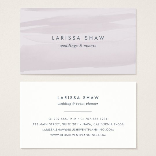 Grey Lilac Watercolor Business Card