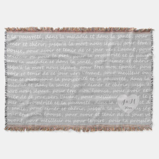 Grey Linen Burlap Look with French Wedding Vows