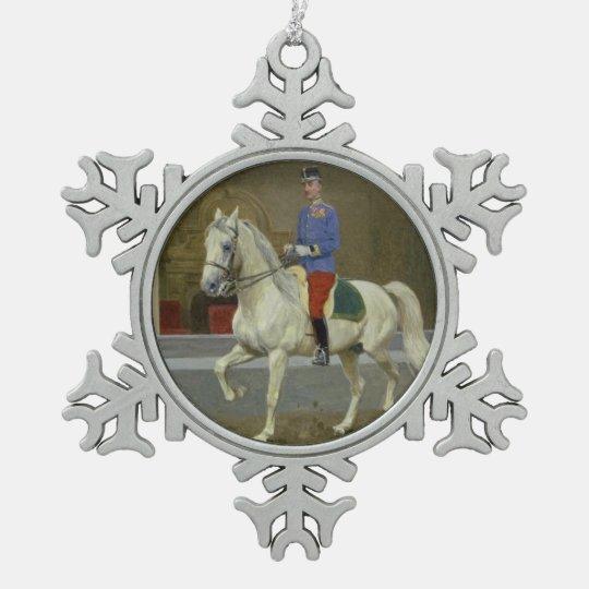 Grey Lipizzan Stallion Christmas Ornament