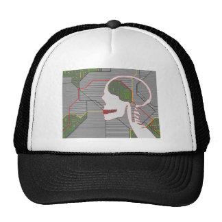 grey logicskull trucker hat