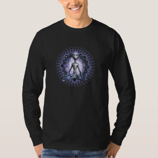 Grey Lotus Double-Sided T-Shirt