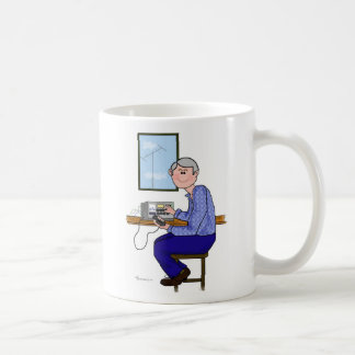 Grey Male Ham Radio Operator Coffee Mug