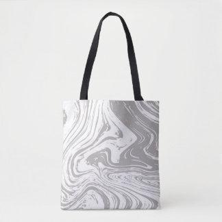 Grey marbel tote bag