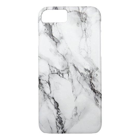 Grey Marble Stone Black Crack iPhone 7 Case